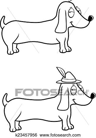 Clip Art Of Dachshund Oktoberfest K23457956