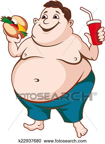clipart of fat man k22937680 search clip art illustration murals rh fotosearch com fat man on beach clipart big fat man clipart