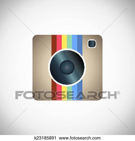 Instagram Icona Clipart K23185891 Fotosearch