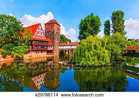 Old Town in Nuremberg, Germany Picture | k29786114 | Fotosearch
