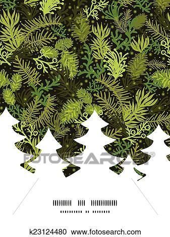 Vector Evergreen Christmas Tree Christmas Tree Silhouette
