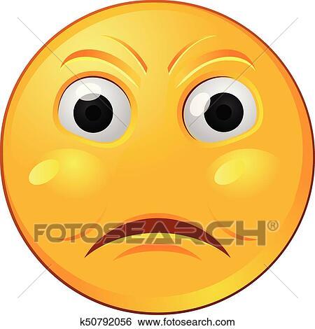 Angry Yellow Emoji Or Emoticon Vector Icon Clip Art K50792056