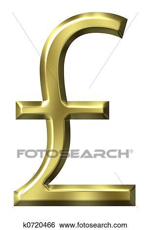 Stock Illustration Of British Pound Symbol K0720466 Search Clip