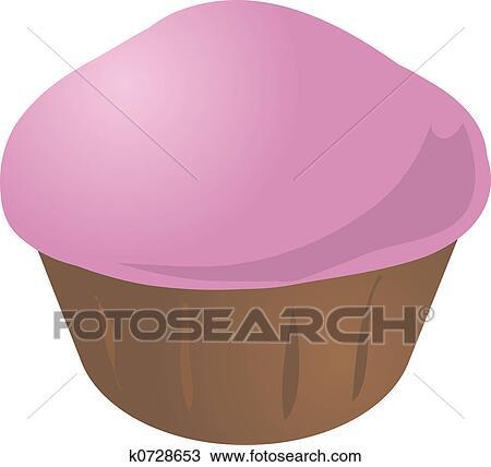 Kresba Cupcake Vdolecek K0728653 Hledat Klipart Ilustrace