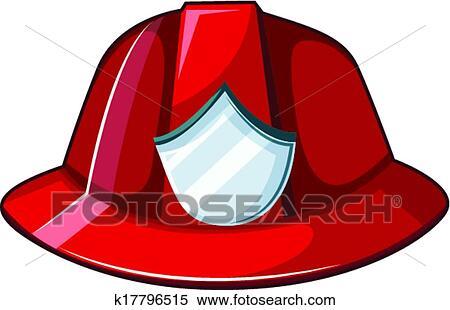 fire helmet clipart rh fotosearch com  fire hat clipart free
