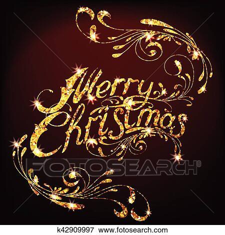 Frohe Weihnachten Glitzer.Gold Glitzer Frohe Weihnacht Schriftzug Design Nachricht Clip Art