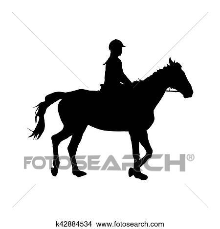 Clipart Horseback Riding