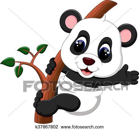 Clipart Of Cute Baby Panda Carton K37867802 Search Clip Art