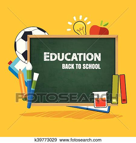 Education Banner And Back To School Background Template Clip Art K39773029 Fotosearch
