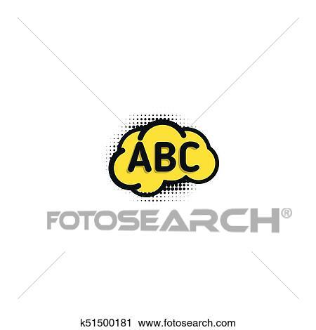 Clipart Inglês Escola Emblema Vetorial Logotipo Língua