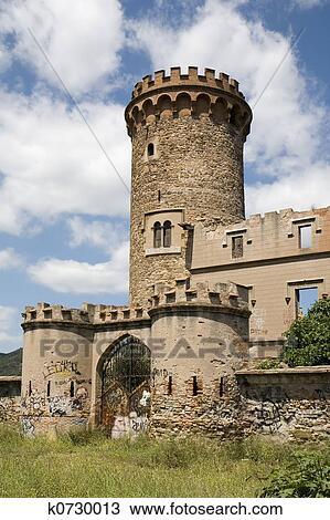 Stock Photo of Salvana Tower in Catalonia k0730013 - Search Stock ... ecd27e5f9765