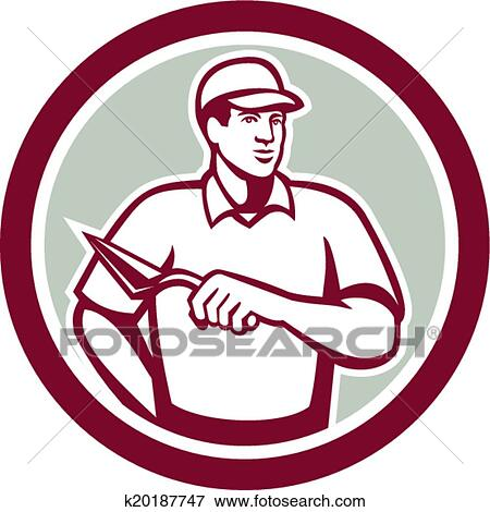 clip art of tiler plasterer mason masonry worker circle k20187747 rh fotosearch com masonic clip art downloads masonic clip art - square and compasses