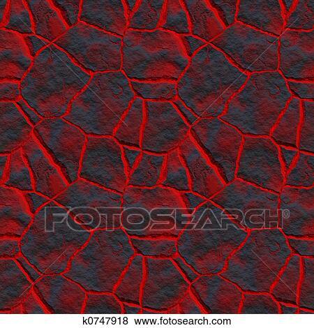 溶岩 によって 割れる イラスト K0747918 Fotosearch