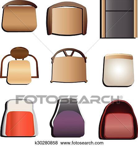 clipart chaises vue dessus ensemble 5 k30280858 recherchez des cliparts des. Black Bedroom Furniture Sets. Home Design Ideas