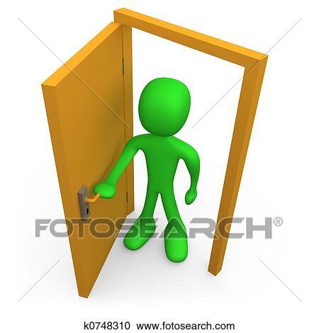Banque d 39 illustrations ouvrir porte k0748310 recherchez des cliparts des illustrations des - Formule magique pour ouvrir une porte ...