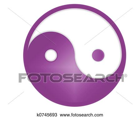Drawing Of Yin Yang Symbol K0745693 Search Clipart Illustration