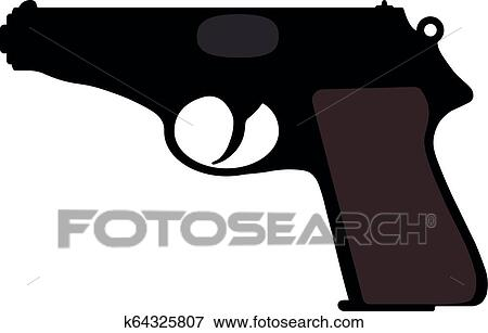 walther pistol vector silhouette gun weapon clip art k64325807 fotosearch https www fotosearch com csp075 k64325807