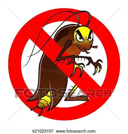 Clip Art Anti Kuchenschabe Zeichen K21023107 Suche Clipart