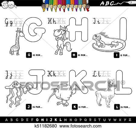 Colorare Libro Educativo Cartone Animato Alfabeto Per Bambini
