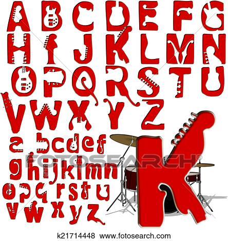 Stock Illustration Of ABC Alphabet Lettering Design K21714448