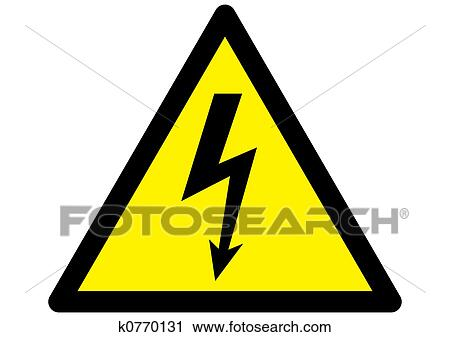 clipart of electrical warning sign k0770131 search clip art rh fotosearch com yellow caution sign clipart caution sign clip art free
