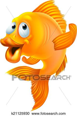 Clipart poisson rouge dessin anim k21125930 for Carpa pesce rosso