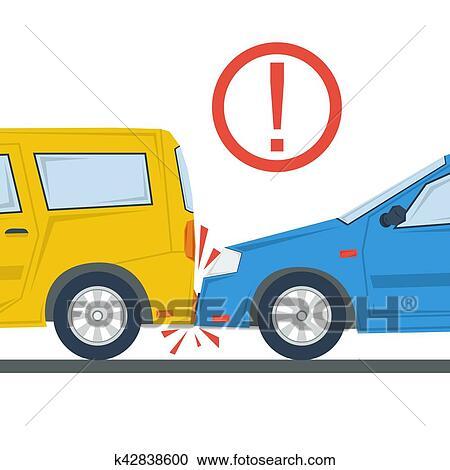 Clipart accident voiture plat illustration isol k42838600 recherchez des clip arts des - Accident de voiture dessin ...