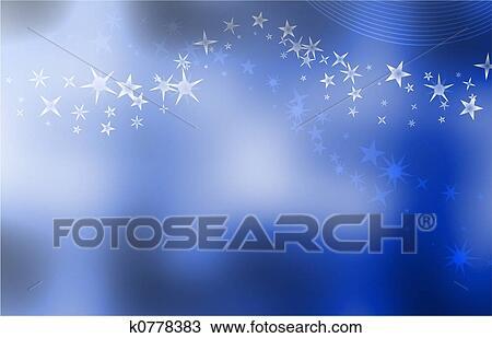 Stellato Sfondo Blu Disegno K0778383 Fotosearch