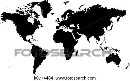 Drawings of world map black k0774484 search clip art illustrations drawing world map black fotosearch search clip art illustrations wall posters gumiabroncs Images