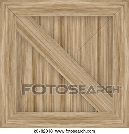 木製の木枠 イラスト K0782018 Fotosearch
