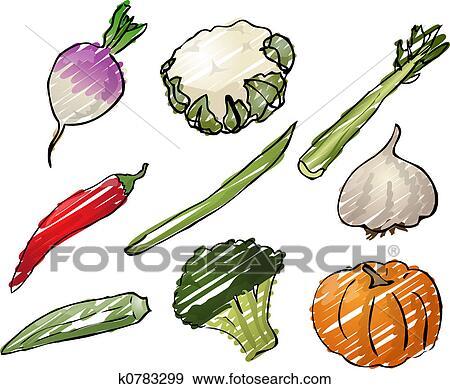 野菜 イラスト イラスト K0783299 Fotosearch
