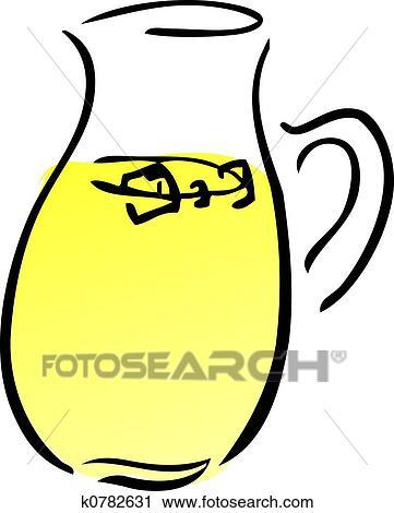 clipart of pitcher of lemonade k0782631 search clip art