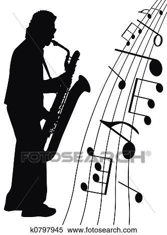 ジャズ ために Sax イラスト K0797945 Fotosearch