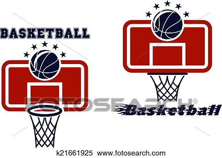 Clipart Of Backboard And Basketball Symbols K21661925 Search Clip