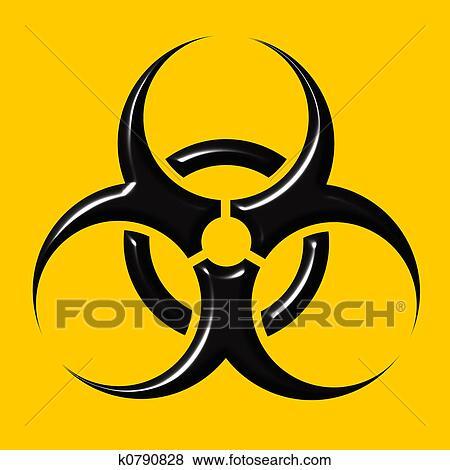 Stock Illustration Of Biohazard Symbol K0790828 Search Eps Clip