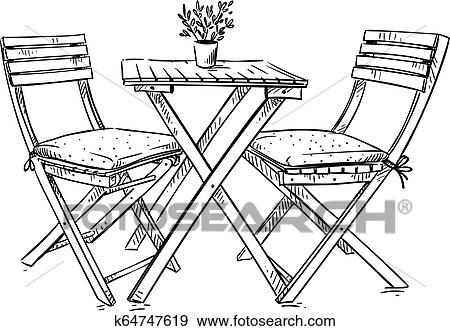 Garden Furniture Table And Two Chairs