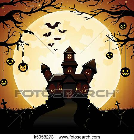 Halloween background with spooky trees - Download Free Vectors, Clipart  Graphics & Vector Art