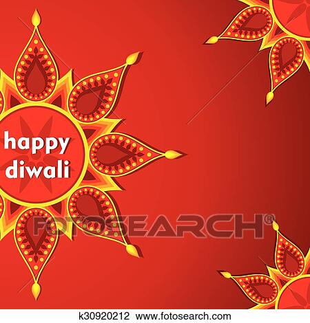Clipart of happy diwali greeting card design k30920212 search clip clipart happy diwali greeting card design fotosearch search clip art illustration murals m4hsunfo
