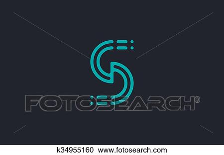 Line The Art Element : Clipart of s logo design. letter element. line design