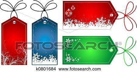 Christmas Present Drawings.Christmas Gift Tags Drawings K0801684