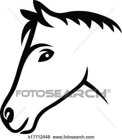 f2a20034aba Face horse Clip Art | k17712448 | Fotosearch