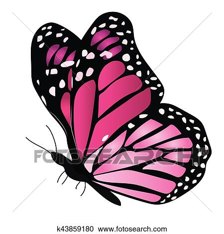 Illustration Of A Colorful Butterfly Clipart K43859180 Fotosearch
