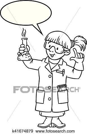 Libro Colorear De Divertido Químico O Científico Clip Art