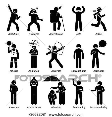 clipart of positive character traits with a k36682081 search clip