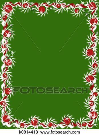 Stock Illustration Of Christmas Garland Border