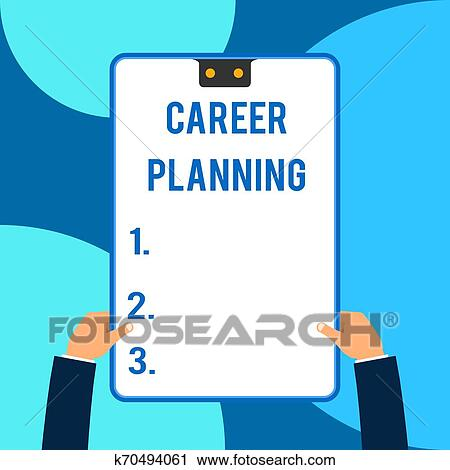Conceptual Hand Writing Showing Career Planning Business Photo Text Strategically Plan Your Career Goals And Work Success Male Hands Holding Electronic Device Geometrical Background Clip Art K70494061 Fotosearch