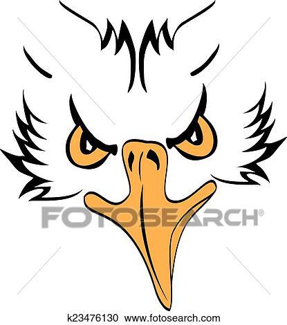 clipart of eagle head profile k23476130 search clip art rh fotosearch com eagle head clipart black and white vector bald eagle head clipart