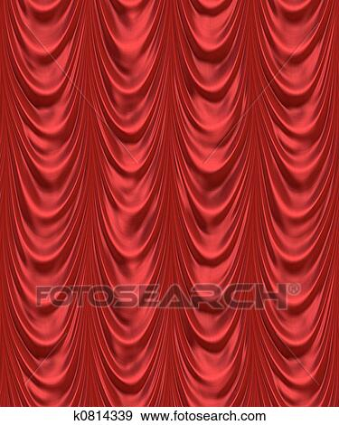 Banque d\'Illustrations - les, rideau rouge k0814339 - Recherche de ...
