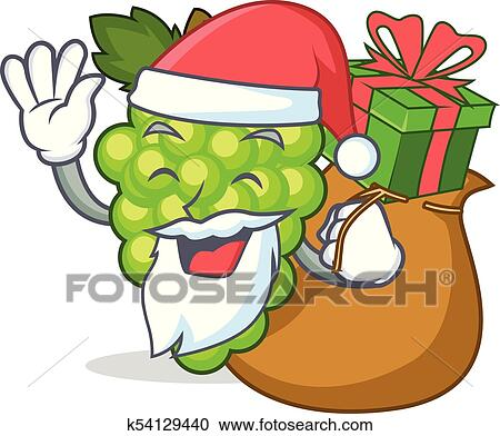 View Green Grapes Cartoon Images Background