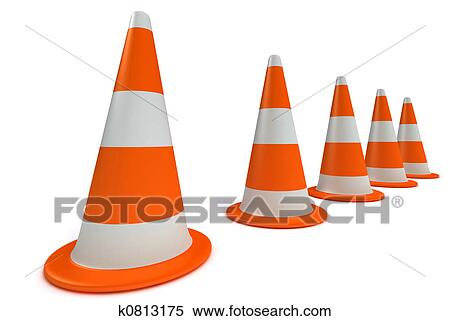 arquivos de ilustração traffic cones k0813175 busca de imagens